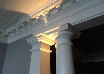 Fibrous Plaster Column, Cornice & Beam
