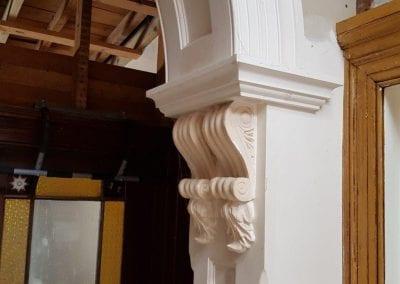 Restoration of Fibrous Plaster Corbels & Arch